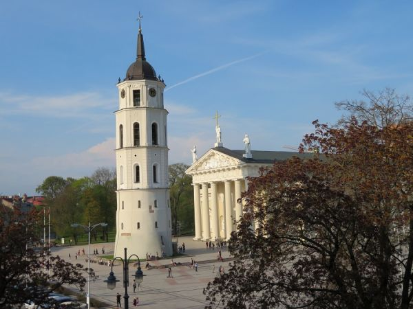 CATHEDRAL SQUARE;  VILNIUS, LITHUANIA